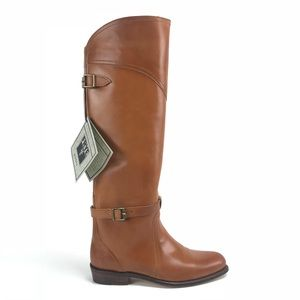 Frye Dorado Cognac Leather Riding Boots
